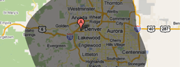 Map: Proudly Serving the Entire Denver Metro and Surrounding Area
